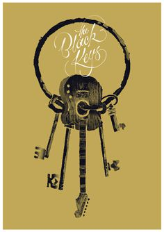 typejunkie:The Black Keys Benny Hennessy(via The Black Keys on Behance) #gig #design #texture #poster #grunge #type