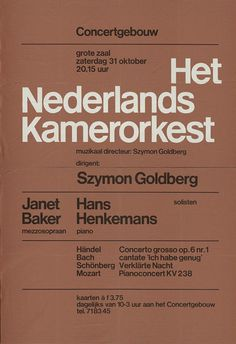 Wim Crouwel #typography #poster