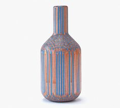 Decorative Wooden Vases Made from Pencils