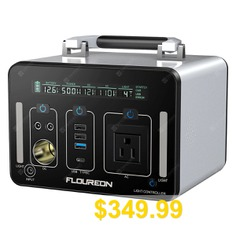 Floureon #500Wh #Power #Generator #Portable #Charger #with #AC #DC #USB #Input #PD #Quick #Charge