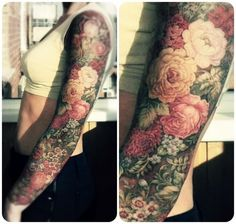 Gepinntes Bild #ink #body #floral #tattoo #arm