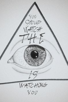 the all seeing eye #eye #illustration #rough #typo