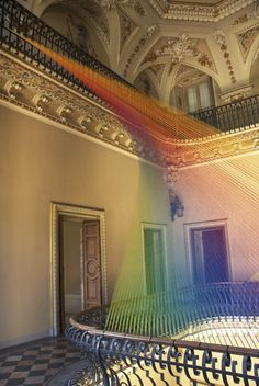 CJWHO ™ (Plexus No 19 by Gabriel Dawe The artist Gabriel...) #dawe #gabriel #installation #design #interiors #colors #art #italy