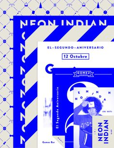 GOMEZ BAR #flyer #indian #bar #gomez #neon