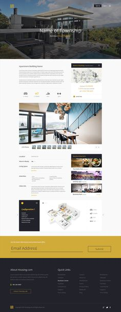 Housing.com #flat #house #focus #lab #design #clean #ui #township #real #minimalist #web #estate