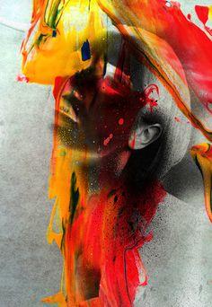 N V R M N D ( her ) - Rosco Flevo #roscoflevo #model #acrylic #designer #artscumantics #postartfuckery #fashion #artist