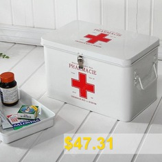 Household #Multi-layer #Medicine #Storage #Box #Lock #First #Aid #Kit #- #WHITE