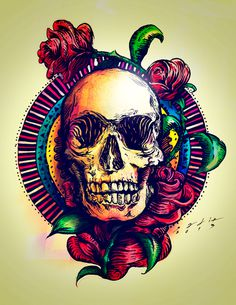 This is my life... on Behance #draw #rose #sadik #mexico #freestyle #guanajuato #paint #natural #tattoo #art #skull