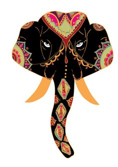 Indian Elephant FaceThird Elephant in the series. #elephant