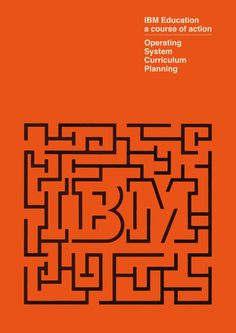 IBM Education - 1971 #design #graphic #orange #retro #education #ibm #vintage #brochure