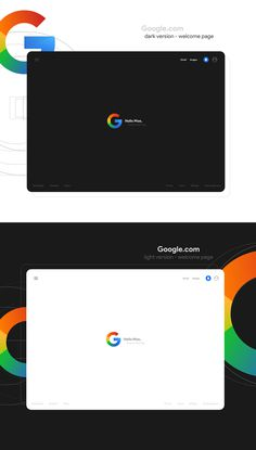 Google new look — UI and Logo on Behance