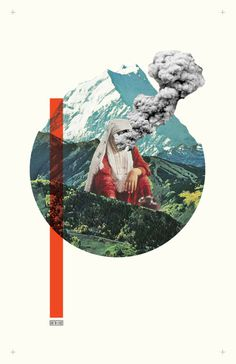 #collage #poster #smoke #minimalism #design