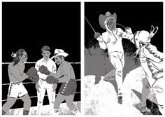 Cowboy vs Indian   Matt Taylor Illustration