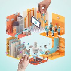 Creating Tomorrow | School of Economics & Management on the Behance Network #illustration #colors #erwin