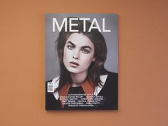 Metal - Folch #cover #magazine #metal #san serif #folch OUR FAV FONT!!!!! OUR FAV COLOUR PALATE - peach/terracotta + light grey