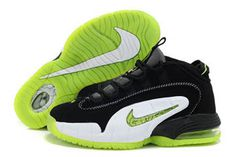 Nike Air Penny 1 Electric Green/Black/White Basketball Shoes Men #shoes