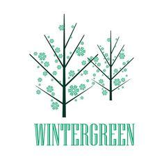 Behance :: Editing Logos #green #tree #design #graphic #snow #illustration #logo #winter