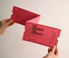 En Nombre del Público | Sublima Comunicación #sublima #pink #cendeac #contemporary #art #din #brochure #ticket