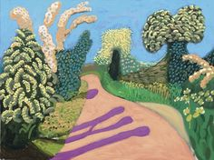 hawthorne blossom woldgate no 4 #painting #david #art #hockney