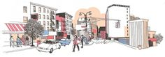 Josh Cochran: work #city #illustration