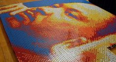Dream Big Rubik's Cubes Portrait of Martin Luther King Jr. | Freshome #inspiration #portrait #rubik