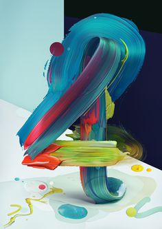 Atypical art typography pawel nolbert design mindsparkle mag painting paint color colorful type letter play playful typedesign deisgn design