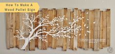 Love the white tree on the wood