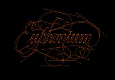 WOTD: Euphonium on Behance #calligraphy #lettering #illustrator #custom #type #typography