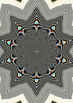 itsnotalwaysdark #black #white #pattern #psychedelic