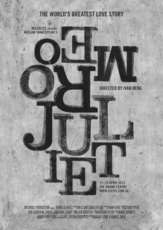 Romeo & Juliet Poster Series 3 #printmaking #design #poster #singapore #typography