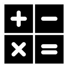 See more icon inspiration related to calculator, maths, calculating, technology, sings and technological on Flaticon.