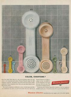 western electric color everyone #vintage #advertising