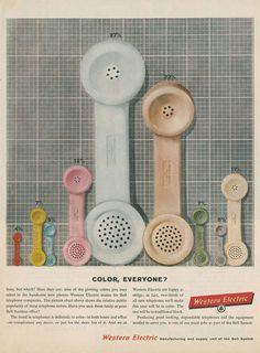 western electric color everyone #vintage #advertising