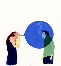 Doing Fine » Blog Archive #art #painting #eleanor davis #eye bubble