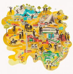 Vesa Sammalisto #illustration #map