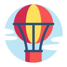 See more icon inspiration related to hot air balloon, transportation, urban, flight, fly, air, air balloon and transport on Flaticon.