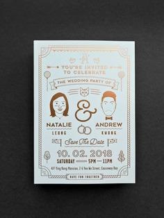 Invitation card / Natalie & AnDrew Wedding