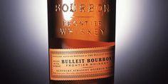 Closeup of Bulleit Bourbon label.