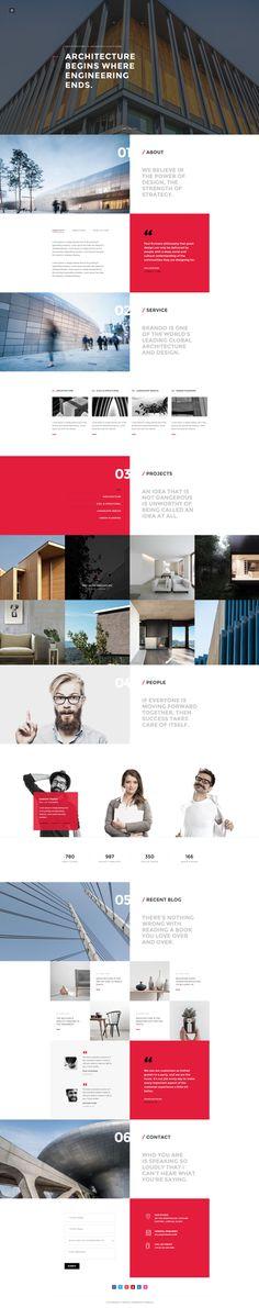 Brando #Responsive & #Multipurpose #OnePage #Template For #Architecture by #ThemeZaa http://goo.gl/VGP5GC