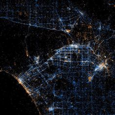 Beautiful maps of Twitter and Flickr usage  These Old Colors #los angeles #social network
