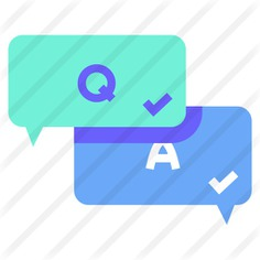 See more icon inspiration related to question, q&a, shapes and symbols, question mark, customer service, answer, faq, communications, education, help, speech bubble, bubble speech, information and button on Flaticon.