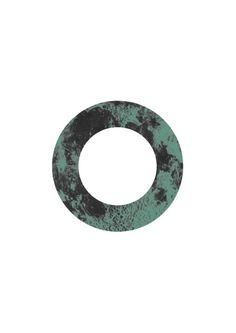 #poster #geometric #moon #posterdesign #print #abstract #circle #green