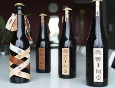 06_17_12_SwingMicrobrewery_4.JPG -- Different labels #packaging #beer #bottles #craft