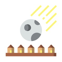 See more icon inspiration related to meteor, Asteroid, comet, house, buildings, home and nature on Flaticon.