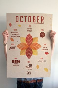 What's on October #geometry #shapes #october #nights #edinburgh #series #poster #monthly
