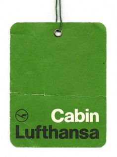 Lufthansa Airlines Cabin Label via Wanken #lufthansa #label #green