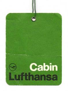 Lufthansa Airlines Cabin Label via Wanken