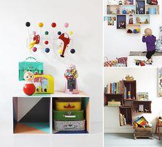 Fun DIY Storage for Kids via Varpunen, A Merry Mishap, and The Guardian #interior #room #design #decor #deco #kids #childrens #decoration