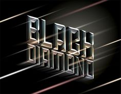 Black Diamond #design #retro #shine #poster #typography