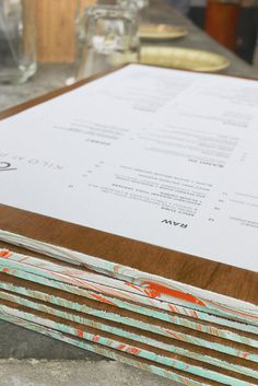 Kilo at Pact #object #print #menu